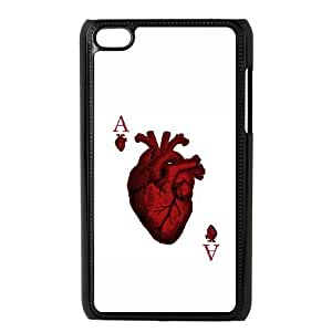 iPod Touch 4 Case Black Ace of Hearts Siesd
