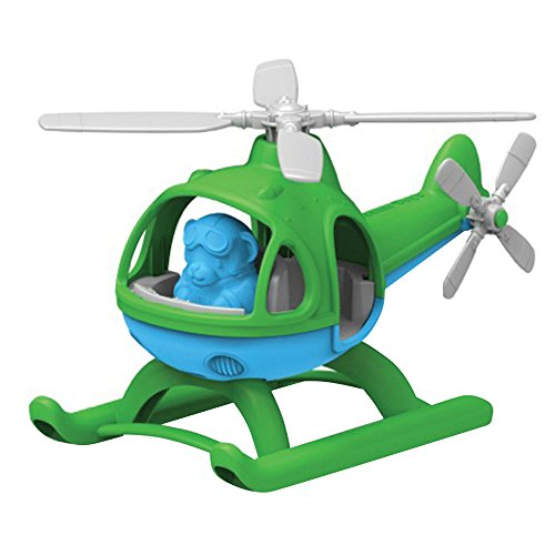 Helicopter Toy, Green/Blue, by Green Toys