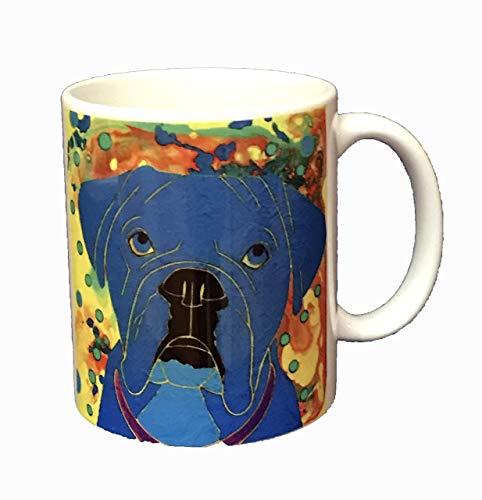 Boxer Dog Mug, Collectible 11 oz Boxer Ceramic Coffee Cup by Angela Bond