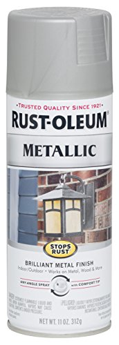(Rust-Oleum 7277830 Stops Rust Metallic Spray Paint, 11 oz, Matte Nickel)