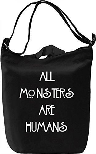 All Mosters Are Humans Borsa Giornaliera Canvas Canvas Day Bag| 100% Premium Cotton Canvas| DTG Printing|