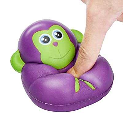 Clearance Sale!DEESEE(TM) Squishies Toy Kawaii Adorable Monkey Toy Slow Rising Cream Scented Stress Relief Toys Gifts (Purple): Beauty