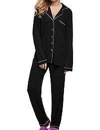 Ekouaer Comfort Pajama pijamas de manga larga de mujeres con Pj Set (XS-XL)
