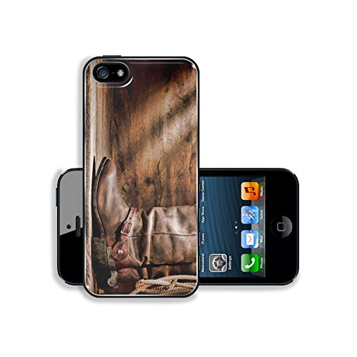 MSD Premium Apple iPhone 5 iphone 5S Aluminum Backplate Bumper Snap Case IMAGE ID: 12942091 American West rodeo cowboy traditional leather working roper boots with authentic Western riding spurs and
