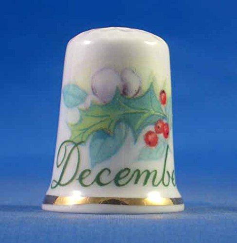 Ditale in porcellana cinese, motivo floreale, collezione del mese di dicembre Birchcroft China