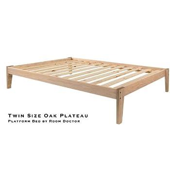 Amazon Com Queen Size Solid Oak Platform Bed Frame