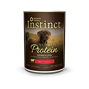 Instinct Ultimate Protein Grain Free Real Beef Recipe Natural Wet Canned Dog Food, 13.2 oz. Cans (Case of 6)
