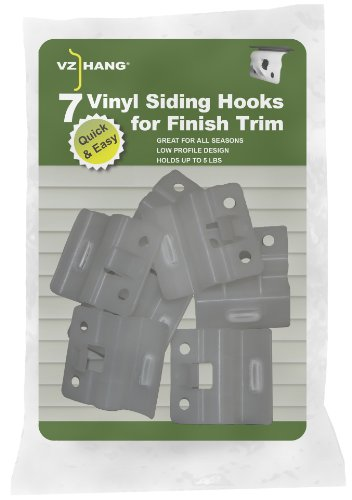VZ Hang Viny Siding Hooks for Finish Trim (Hook Siding Outdoor Vinyl Decor)