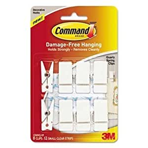 Amazon.com : Command Spring Hook, 3/4w x 5/8d x 1 1/2h ...