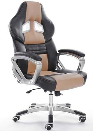 Möbel möbel braun schreibtisch : Hohe Rückenlehne Bürostuhl Racing Spiel Stuhl Leder Computer ...