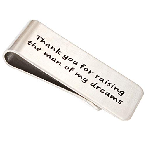 Money Clip, Thank you for raising the man of my dreams ,Wedding Gift ,Dad Wedding Gift from The Bride,Idea Gifts Present for Man Dad Father Father of The Groom (Best Man Gift Ideas From Groom)
