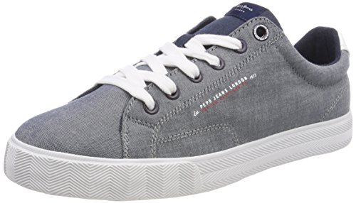 Jeans Bleu New Basses Fabric Pepe Chambray Blau Homme Chambray North Sneakers PFdgnqAx