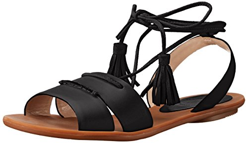 Sandal Connection French Women's Flat Black Bobbie R4CgqP
