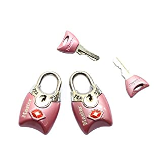 Master Lock 4689T Keyed TSA Approved Luggage Lock, 2 Pack, Assorted Colors