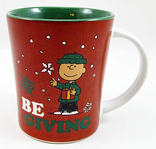 Peanuts Charlie Brown and Snowflakes Be Giving 15 oz. Christmas Mug by Gibson