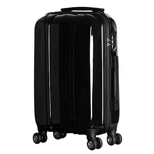 NEWCOM Luggage 20 Inch Carry On Hard Shell with Spinner Wheels Water Repellent PC + ABS Lightweight Hand Cabin Hardside Trolley Case Build-In TSA Lock for Business - Cabin Case Trolley