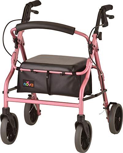 NOVA 20 Zoom Rollator Walker, Pink