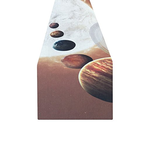 your-fantasia Ninth planet of the Solar System Opened Cotton Linen Table Runner 14 x 72 inch by your-fantasia (Image #1)