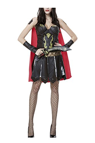 Women's Warrior Huntress Costumes (Women's Greek Warrior Halloween Costumes,X-Large)