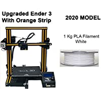 WOL 3D UPGRADED Creality Ender 3 Easy to Assemble Premium DIY 3D Printer 220X220X250 MM Ender 3 with PLA White