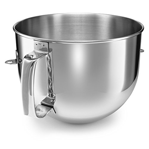 7 Stainless Steel Mixing Bowl - KitchenAid KA7QBOWL Stainless Steel Mixing Bowl for 7 Quart Bowl-Lift Stand Mixer