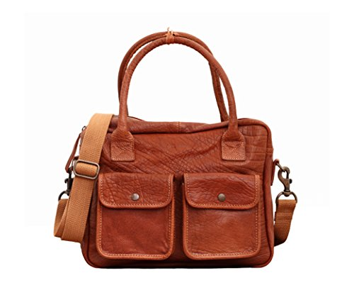LE DANDY Marrone Naturale borsa in pelle stile vintage PAUL MARIUS