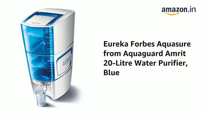 Eureka Forbes Aquasure from Aquaguard Amrit 20-Litre Water Purifier, Blue 2