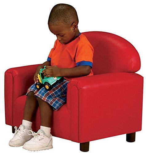 Brand New World Preschool Premium Vinyl Upholstery Chair - Red