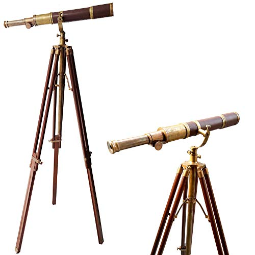 collectiblesBuy Royal Vintage Moon Arc Telescope Antique Handmade Tripod Telescopes Handicraft Nautical Article from collectiblesBuy