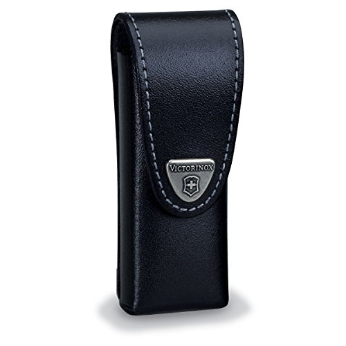 Victorinox Swisstool Belt Pouch, Medium, Leather Black