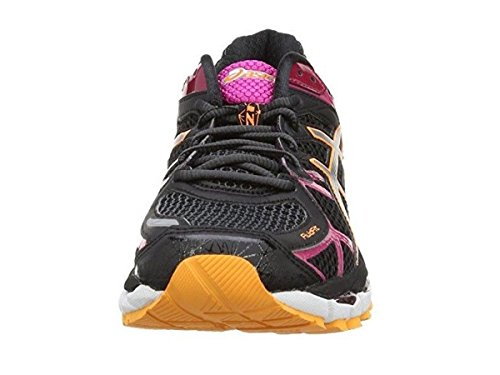 Asics Gel Kayano 21 (2A-Narrow Fit) T4J5N 9091 Womens Running Trainers Black/Raspberry, UK 5.5/EU 39