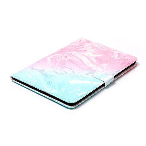Funda Galaxy Tab S3 9.7 SM-T820,SainCat Funda de cuero sintético tipo billetera con de Suave PU Carcasa Con Tapa y Cartera, Elegante Estuche Caja,Pintado Patrón Diseño Soporte Plegable piedra mármol S Mármol rosa