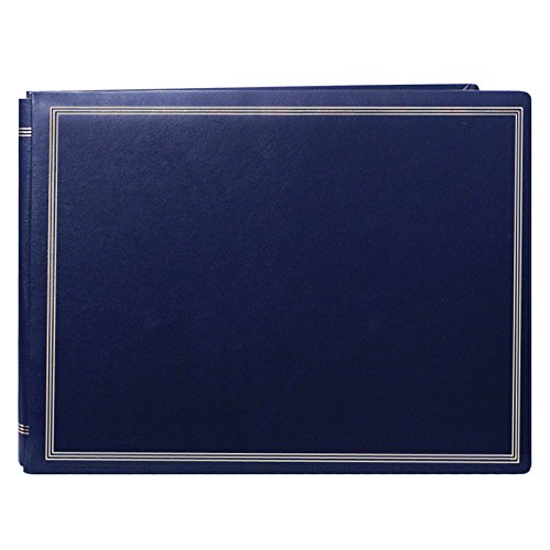 Pioneer Photo Albums Pioneer Postbound Deluxe Boxed Navy Leatherette Magnetic Album with 2 Bonus Refill Packs by Pioneer Photo Albums