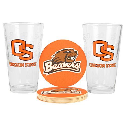 NCAA Pint Glass and Coaster Set (2 Pack) (Oregon State Beavers) ()