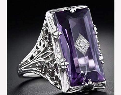 Silver Womans Ring Light Purple Amethyst Color Stone Womans Jewelry Jewellery Gift For Her