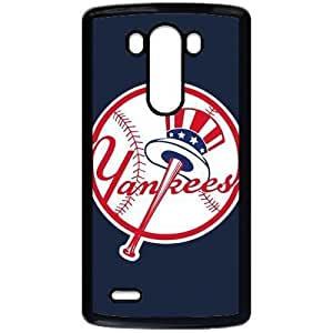MLB&LG G3 Black New York Yankees Gift Holiday Christmas Gifts cell phone cases clear phone cases protectivefashion cell phone cases HMFN635585434
