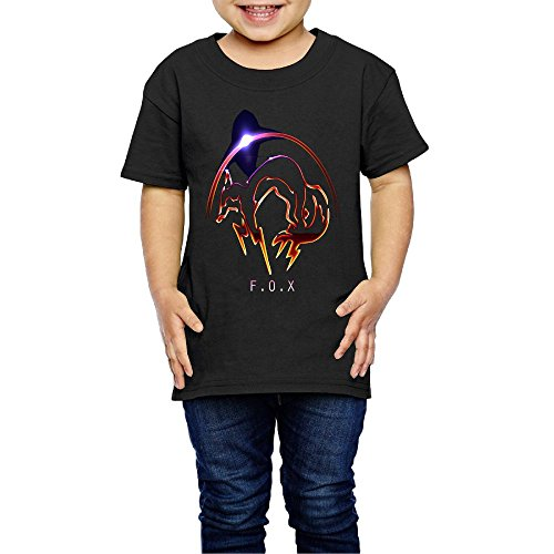 Gilles Kid's Metal Gear Solid Fox Cool T Shirts for Girls & Boys Black 3 Toddler ()