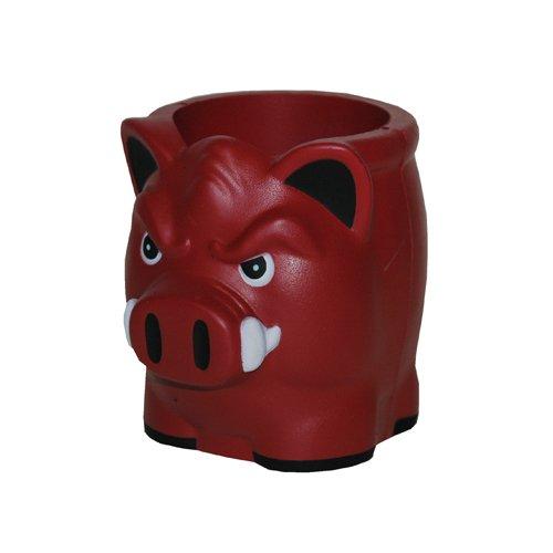 NCAA Arkansas Razorbacks 12DP Hog Shape Foam Koozie, One Size, (Arkansas Hogs)