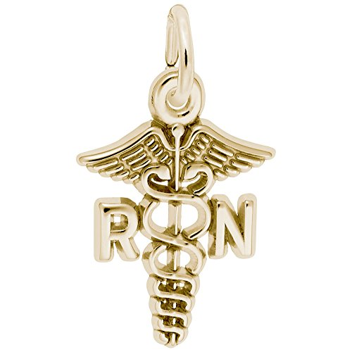 Rembrandt Charms, Registered Nurse, 10K Yellow Gold (Rembrandt 10k Charms)