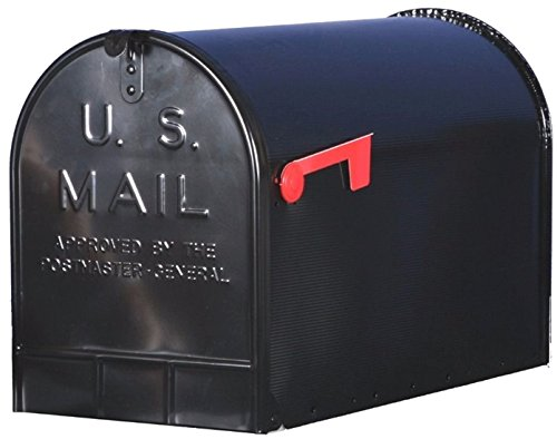 solar-group-st200b00-black-jumbo-t3-galvanized-steel-post-mounted-rural-mailbox