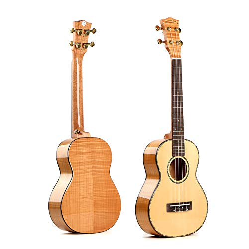 Deviser Oriental cherry Tenor W-DAS 26inch professional ukulele Solid Spruce Top Okoume back and side with gig bag (Tenor)