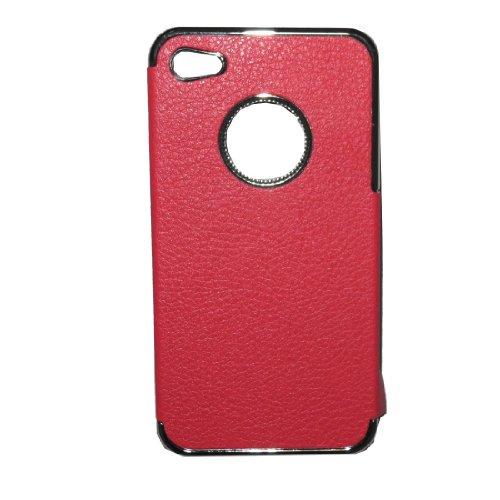 iPhone 4 / Cas 4S: Simplicité Hard Case Cover protecteur de la peau pour Apple iPhone 4 / 4S - rouge