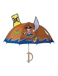 Paraguas pirata Kidorable para niños con mango divertido de espada, calavera y huesos cruzados y espada, Marrón, Talla única
