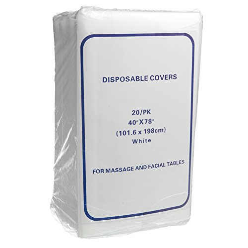 Disposable Non-Woven Exam Bed Covers, 20 Sheets, 40 Inches x 78 Inches