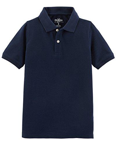 Osh Kosh Boys' Short Sleeve Uniform Polo, Navy, 10