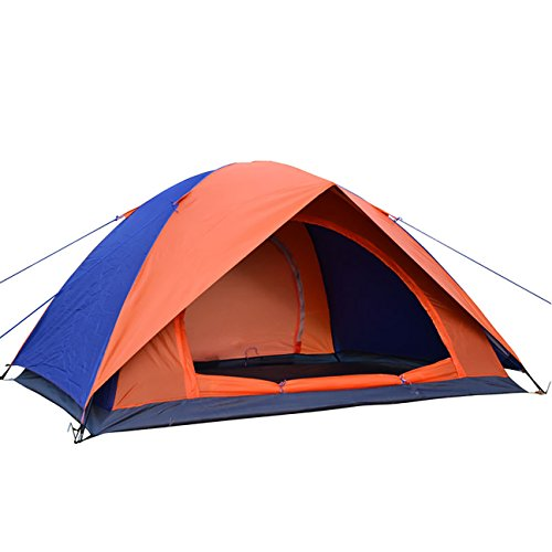 Double Layer Two Doors 2 Person Camping Tent