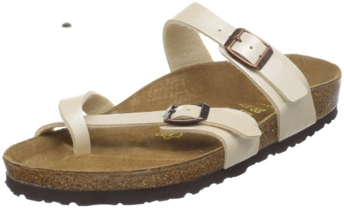 Birkenstock Women's Mayari Sandal,Graceful Antique Lace,38 EU/7-7.5 M US - Material Pearlescent