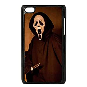 iPod Touch 4 Case Black Scream QPJ Clear Cell Phone Case Hard
