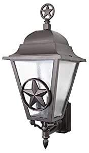 Melissa Lighting LS1799 Outdoor Wall Mount Western Lone Star Series Collection in Bronze/Darkfinish