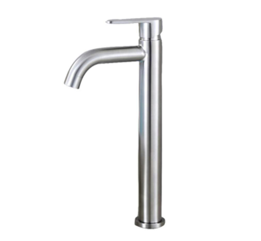 Edelstahl Einhand Mischer Einhebel Stilvolle Elegante Badezimmer-Bassin-Hahn 304 Edelstahl-Behälter-Sink-Kaltwasserhahn-Nickel Fertig